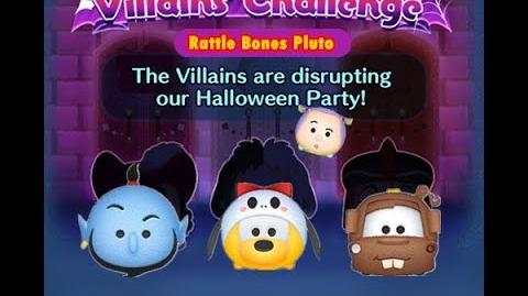 Disney Tsum Tsum - Rattle Bones Pluto (Disney Villains' Challenge - Captain Hook Map 9)