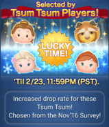 DisneyTsumTsum LuckyTime International BelleBeastSurpriseElsaBirthdayAnna Screen1 201702