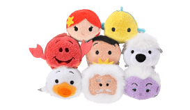 DisneyTsumTsum PlushSet LittleMermaid jpn 2016 Mini