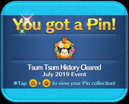 Tsum Tsum History Cleared platinum pin GET!