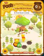 Pooh's Hunny Festival Card 1a