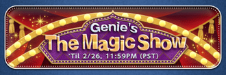 Genie's The Magic Show Banner