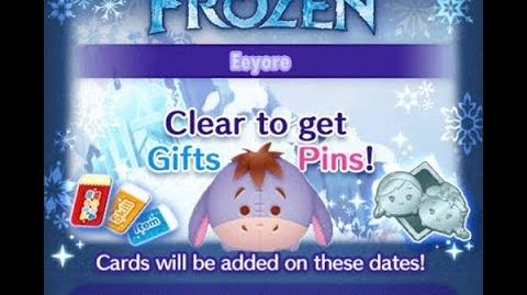 Disney Tsum Tsum - Eeyore (Frozen Event - Card 7 - 13)