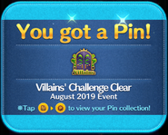 Villains' Challenge 2019 Clear platinum pin GET!