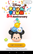 Tsum Tsum 5th Anniversary Loading screen