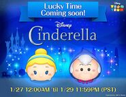 DisneyTsumTsum LuckyTime International CinderellaFairyGodmother Teaser LineAd 201701