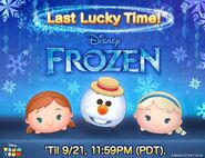 DisneyTsumTsum LuckyTime International YoungAnnaSummerOlafYoungElsa LineAd 201709