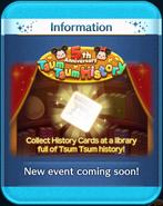 5th Anniversary Tsum Tsum History event coming soon!