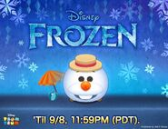 DisneyTsumTsum LuckyTime International SummerOlaf LineAd 201709