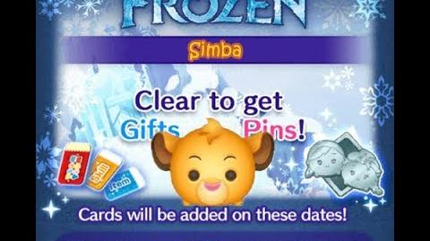 Disney Tsum Tsum - Simba (Frozen Event - Card 6 - 12)