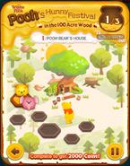 Pooh's Hunny Festival Card 1b