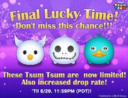 DisneyTsumTsum Lucky Time International ZeroJackSkellingtonPerry LineAd 20160627