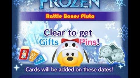 Disney Tsum Tsum - Rattle Bones Pluto (Frozen Event - Card 4 - 6)