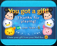 Thanks for playing Level Tickets
