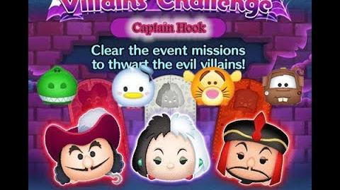 Disney Tsum Tsum - Captain Hook (Disney Villains' Challenge - Captain Hook Map 16)