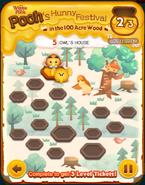 Pooh's Hunny Festival Card 5c