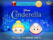 DisneyTsumTsum LuckyTime International CinderellaFairyGodmother LineAd 201701