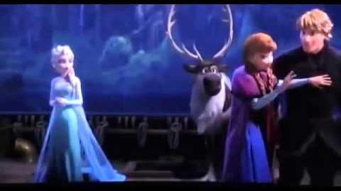 Frozen Personal Flurry Anna punches Hans