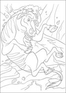 Wildebeest-is-falling-down-coloring-page