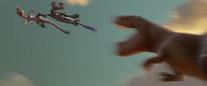 Buck throws raptors away