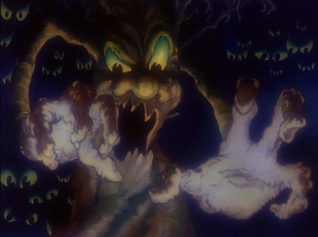 Risultati immagini per scary trees snow white