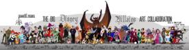 Big disney villains art collab by tavington-d349p3j