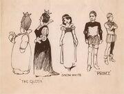 Snow white Boceto personajes