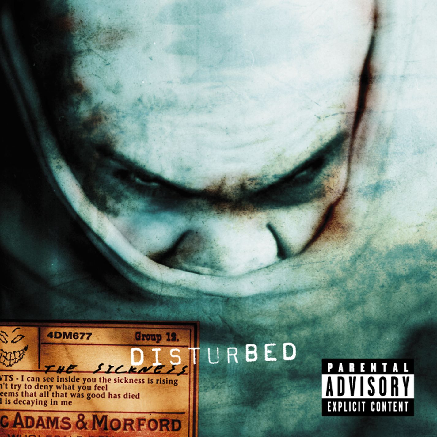 Disturbed 'the sickness' album sampler usa promo 5