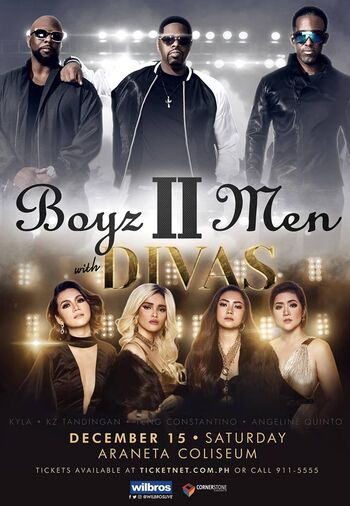 Boyz II Men with DIVAS-poster
