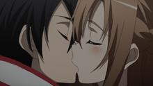 Jill kissing Jack