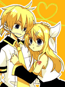 Ame next to his sister