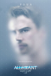 The Divergent Series Allegiant - Four Character Poster