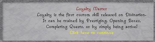 Loyalty Master Text