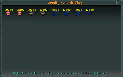 Loyalty Reward Shop