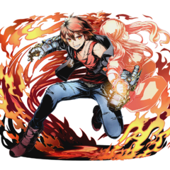 High-res Flame Gauntlet-Wielding Criminal, Akane without bg