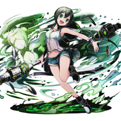 High-res Wind Staff-Wielder Criminal, Midori without bg
