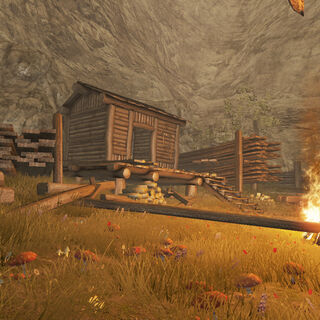 Вход в лагерь разбойников