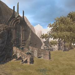 Стела южной долины и руины Гримуара