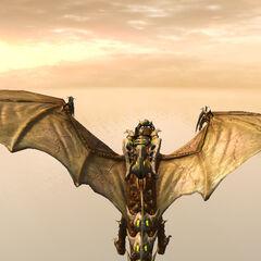 Дракон игрока в броне
