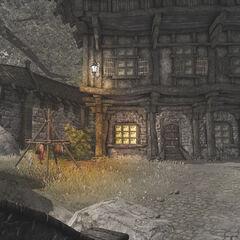 Кусты слева от дома Тома