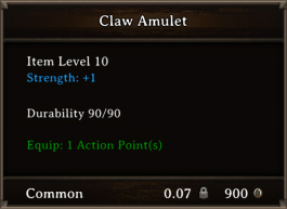 DOS Items CFTX 10.5 Claw Amulet
