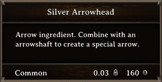 DOS Items CFT Silver Arrowhead Stats