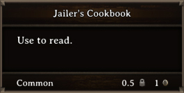 DOS Items Books Jailer's Cookbook