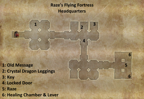Divinity 2 Raze's Flying Fortress headquarters map
