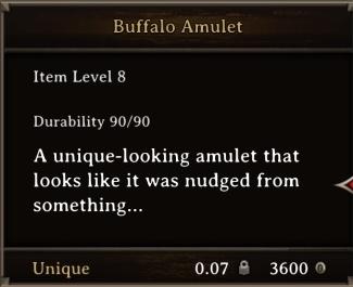 DOS Items Unique Buffalo Amulet