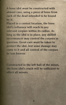 DOS Items Books Bone Totems Page