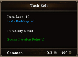 DOS Items CFTX 10.5 Tusk Belt