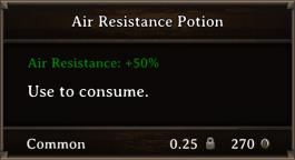 DOS Items Pots Air Resistance Potion 2