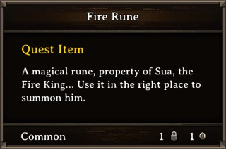 DOS Items Quest Fire Rune Stats