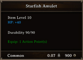 DOS Items CFTX 10.5 Starfish Amulet